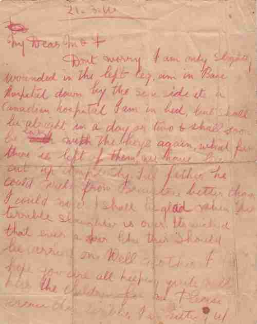 ww1 fred letter