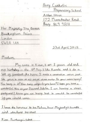 ... last letter below a reply from buckingham palace to a child s letter